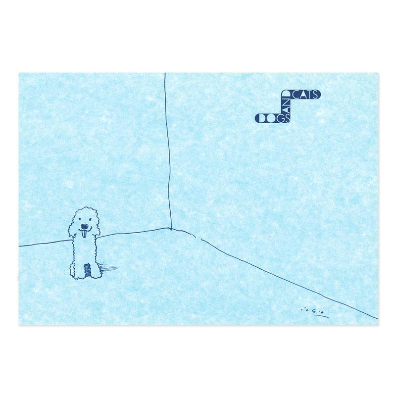 ポストカード 『犬と猫。』(dog)