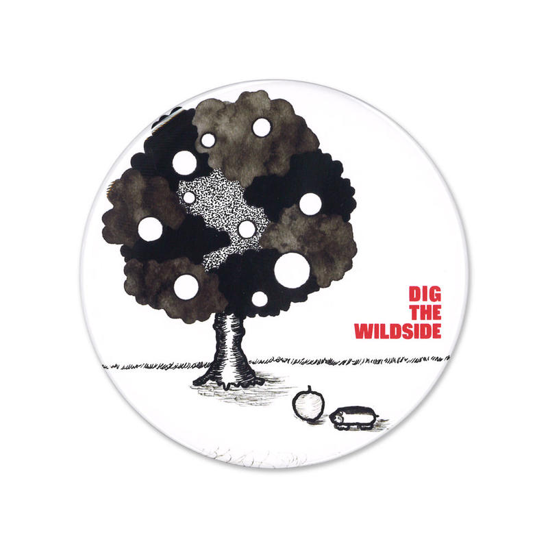 ウェルモ 缶バッジ(big) DIG THE WILDSIDE 『TREE』