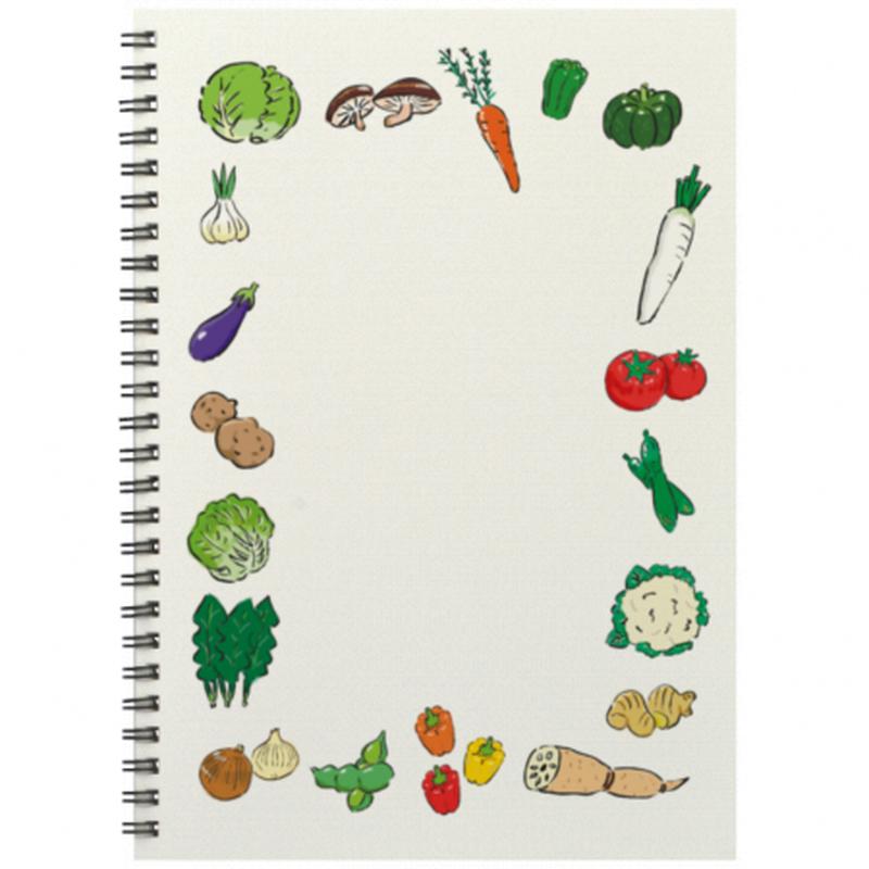 野菜イラストのB5リングノート