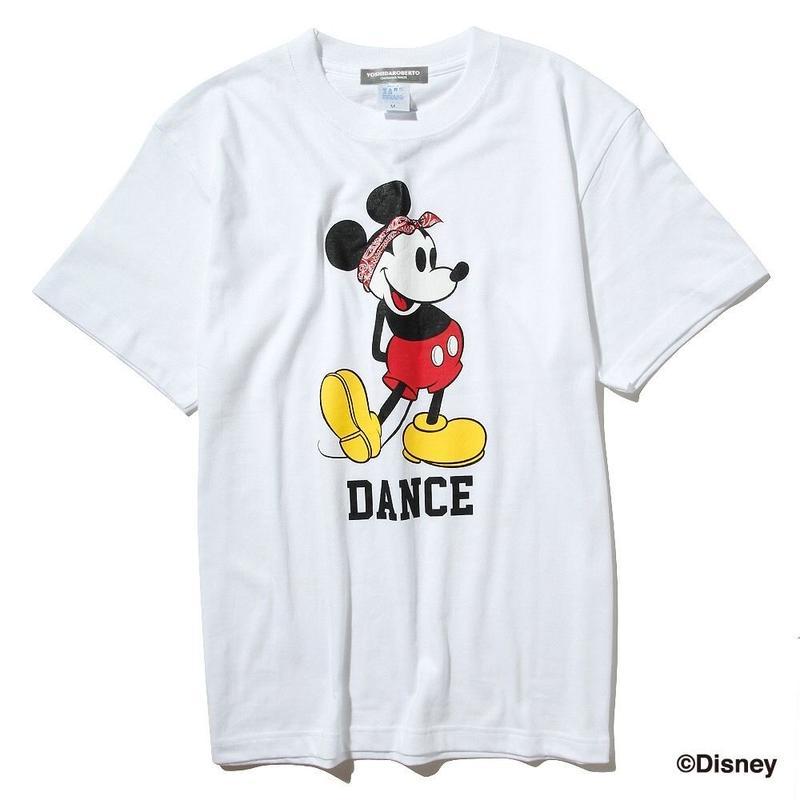ダンスミッキーマウスTシャツ(白)