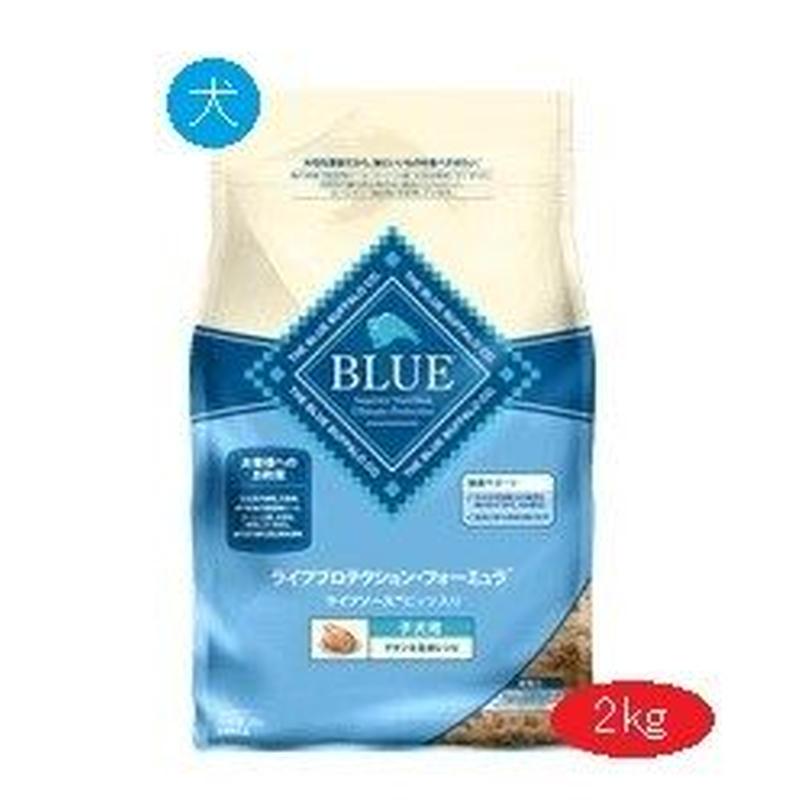 犬 2kg ブルーバッファロー 子犬用 チキン&玄米レシピ【5013】