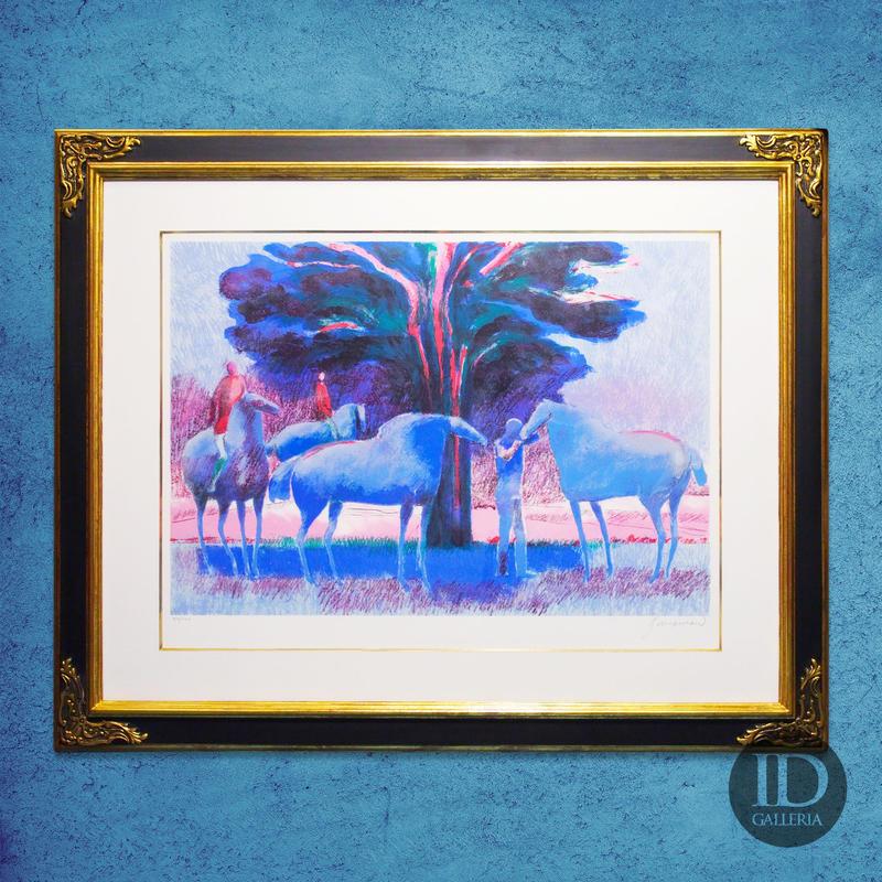 ギアマン「朝焼けの乗馬」