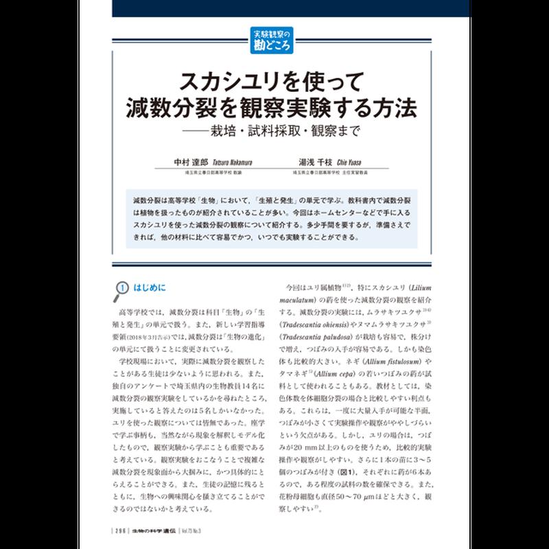 2019年5月発行号/実験観察の勘どころ/中村 達郎 氏