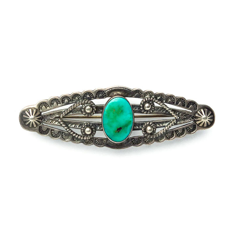 3 Split Turquoise Pin/Fred Harvey Style