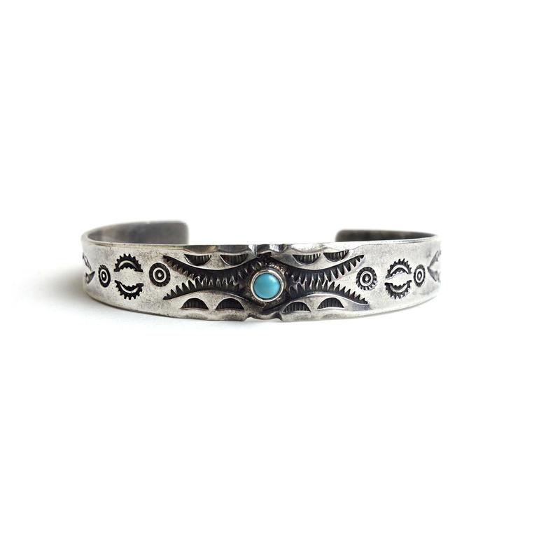 Turquoise Baby Bracelet / Fred Harvey Style