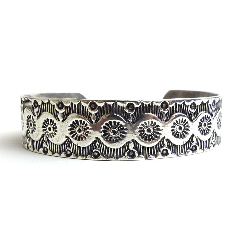 Silver Sun Rays Head Dress Bracelet / Fred Harvey Style
