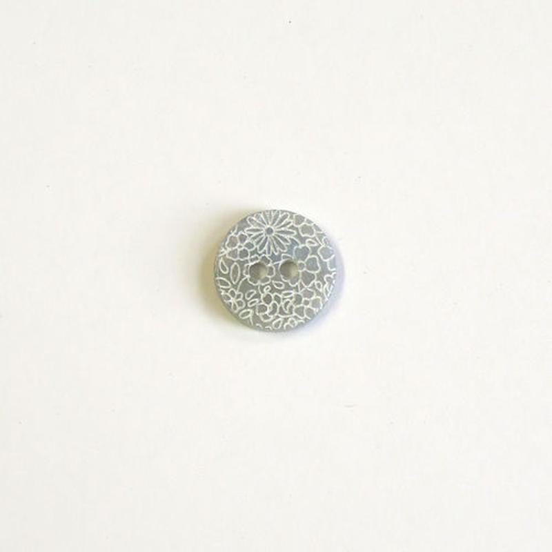フラワープリントボタン (JB461092 ライトグレー)