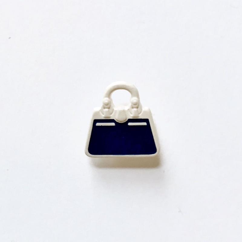 ハンドバッグボタン(ネイビー×ホワイト JB767249)