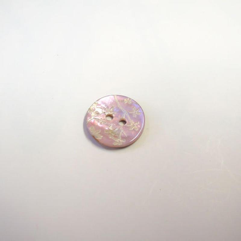 花柄シェルボタン14mm(JB109197 ベビーピンク)