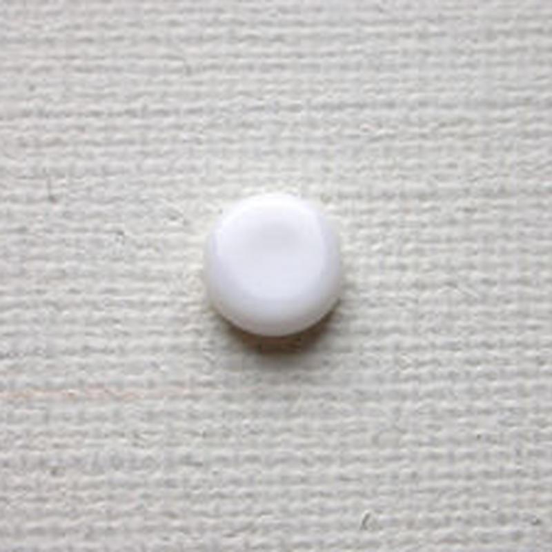 コインビーズ 8mm (FJ65 マットホワイト) 【4個セット】