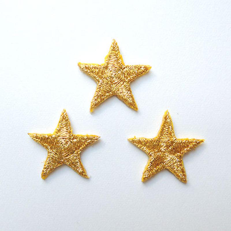 星 M(ワッペン)【3枚セット】