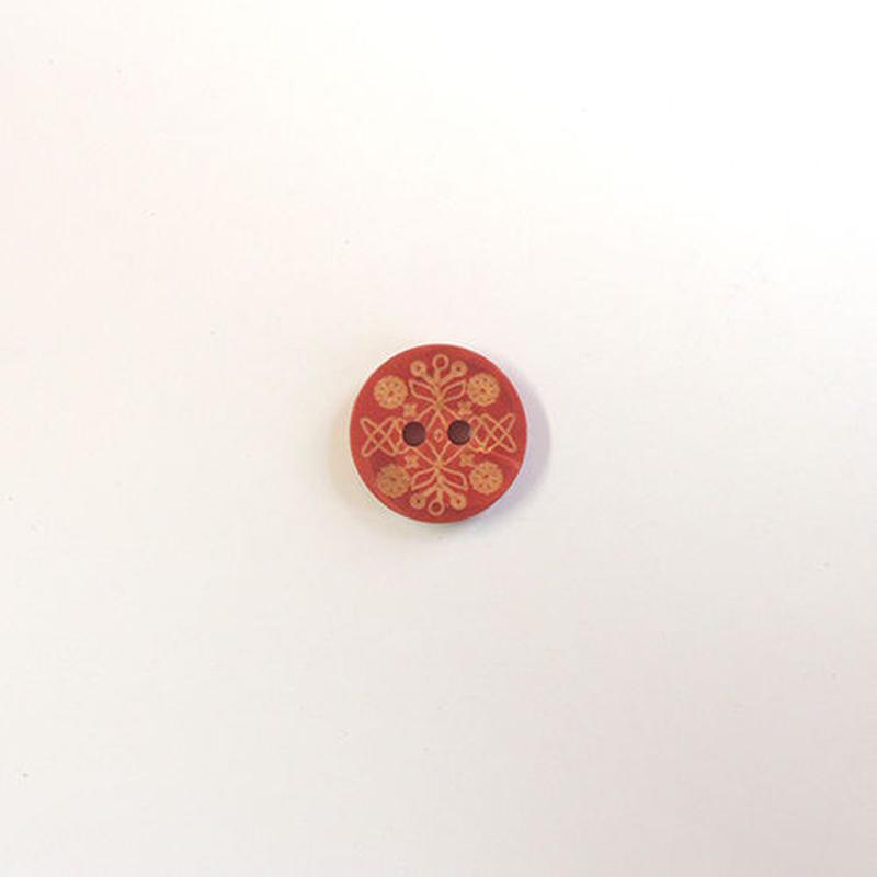 レリーフウッドボタン (JB609027 14mm レッド)