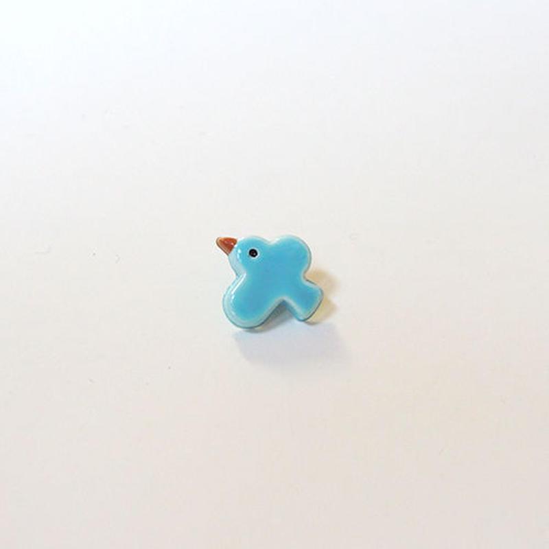 とりボタン (JB767201 ライトブルー)