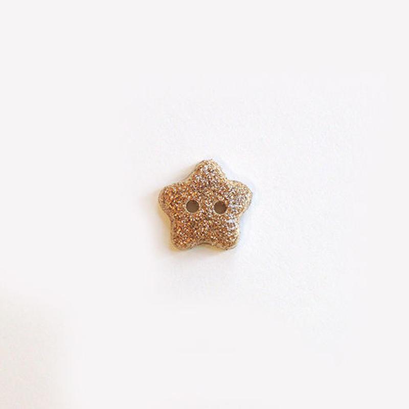 ラメ入り星ボタン (JB736648 10mm ゴールド)