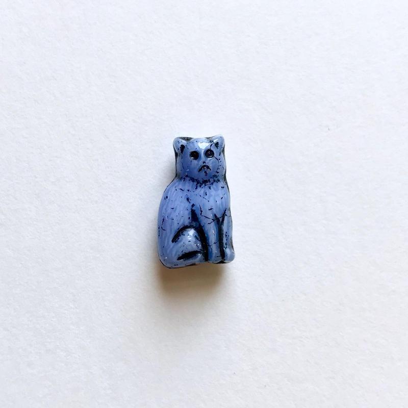 ネコのビーズ (FJ001 ブルー)