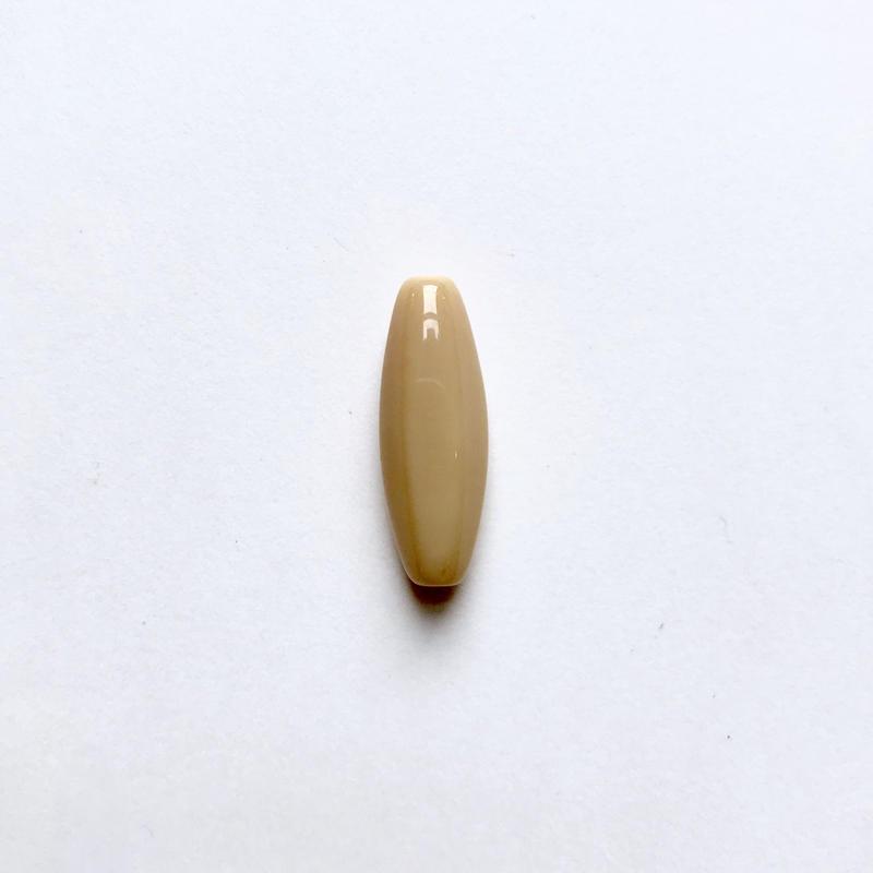 ナツメ形ビーズ(FJ409 ベージュ)