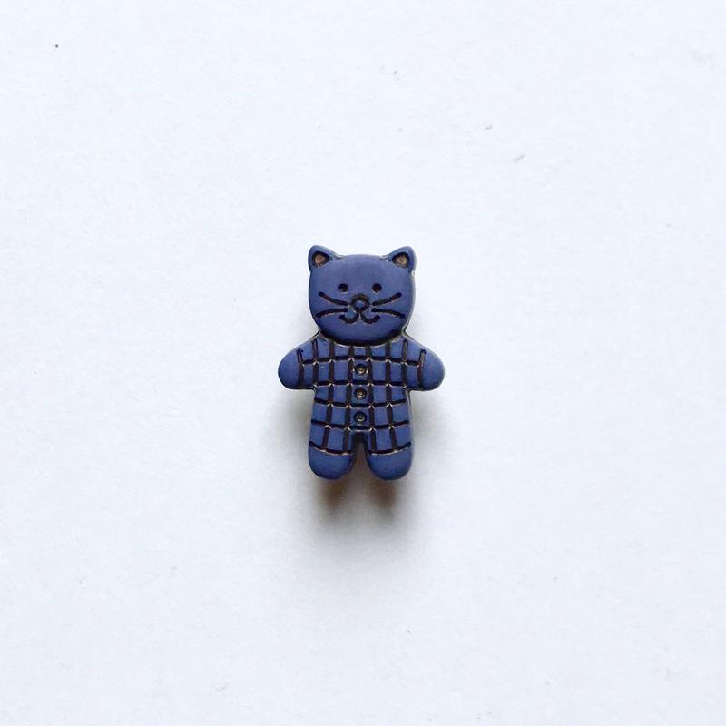 キャットドール・ボタン (JB734347 ブルー)