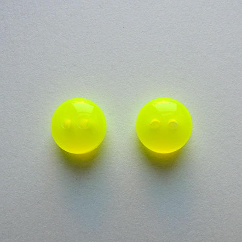 ネオンカラーボタン(JB461088 9mm イエロー)【2個セット】
