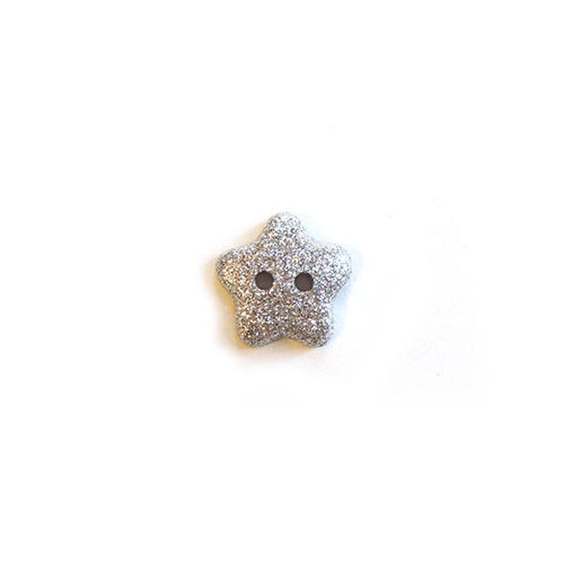ラメ入り星ボタン (JB736648 10mm シルバー)