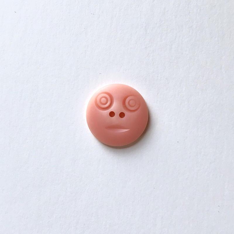 スマイルボタン ( Mサイズ ピンク)