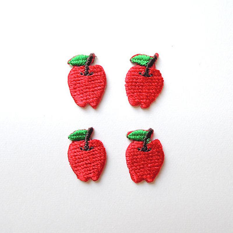 りんご(ワッペン)【4枚セット】