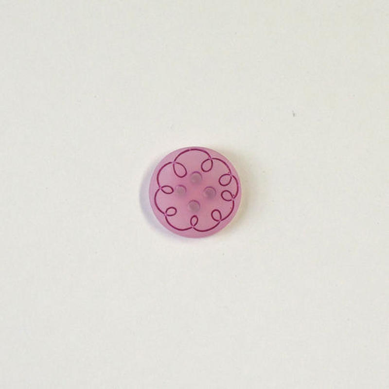 カーリーライン4つ穴ボタン (JB794019 /12mm ピンク)