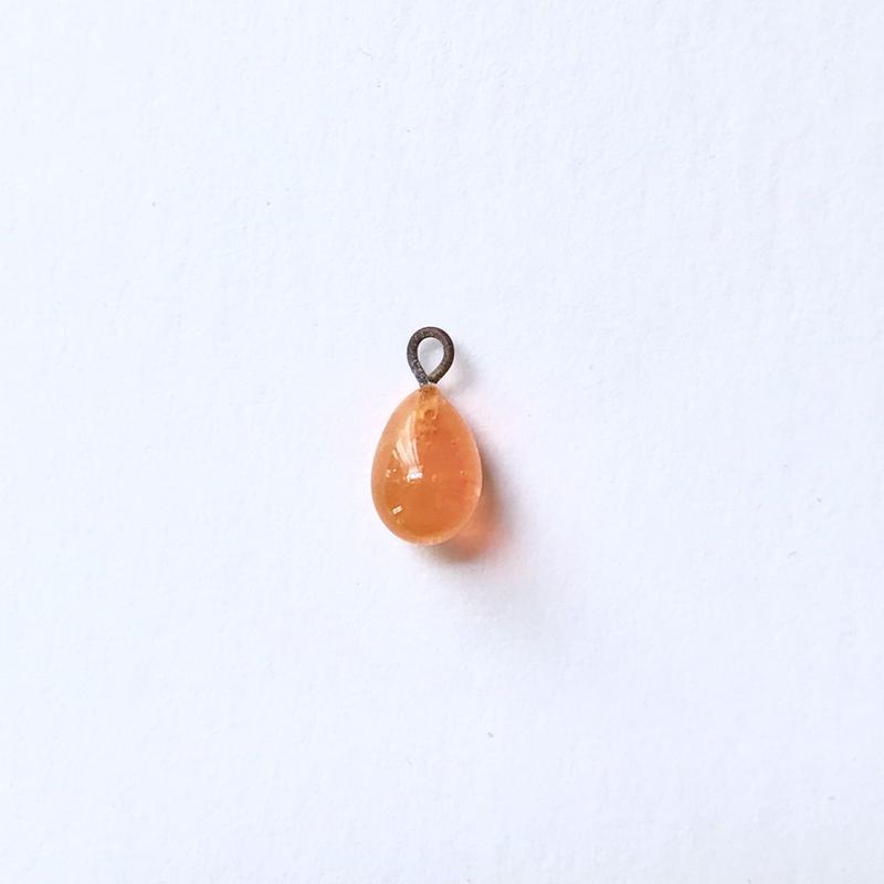 カン付きドロップビーズ(FJ089 オパールオレンジ)