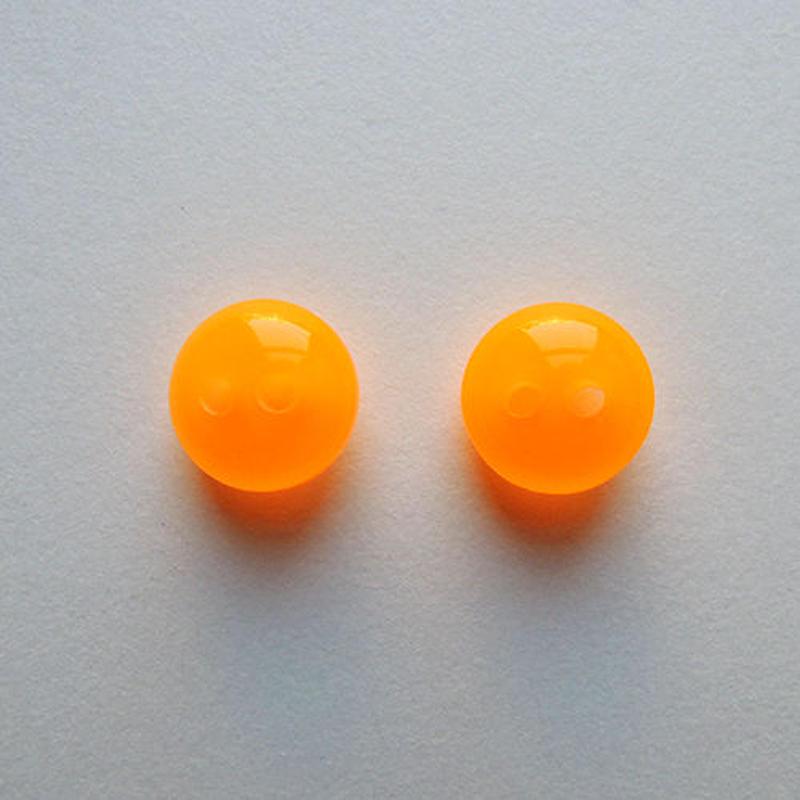 ネオンカラーボタン(JB461088 8mm オレンジ) 【2個セット】