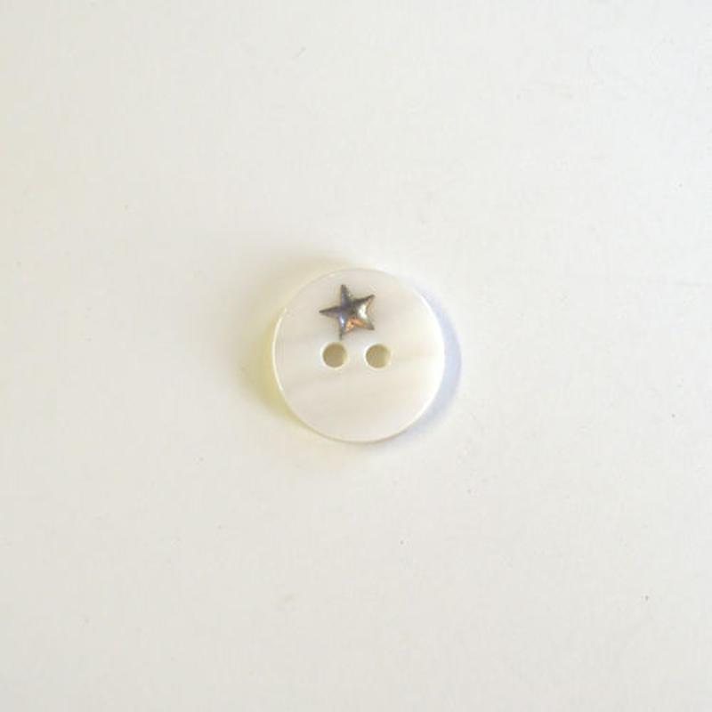 星のシェルボタン M (JB107004 シルバー)