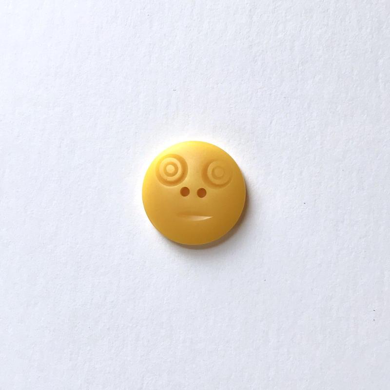 スマイルボタン ( Mサイズ イエロー)
