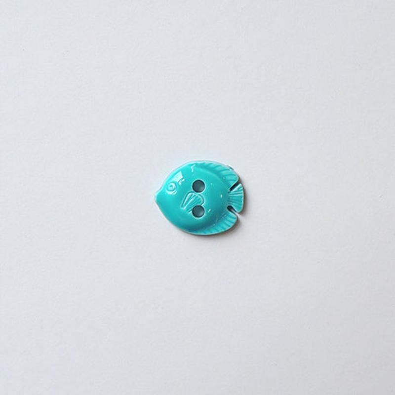 フィッシュボタン (JB736434 12mm ターコイズ)