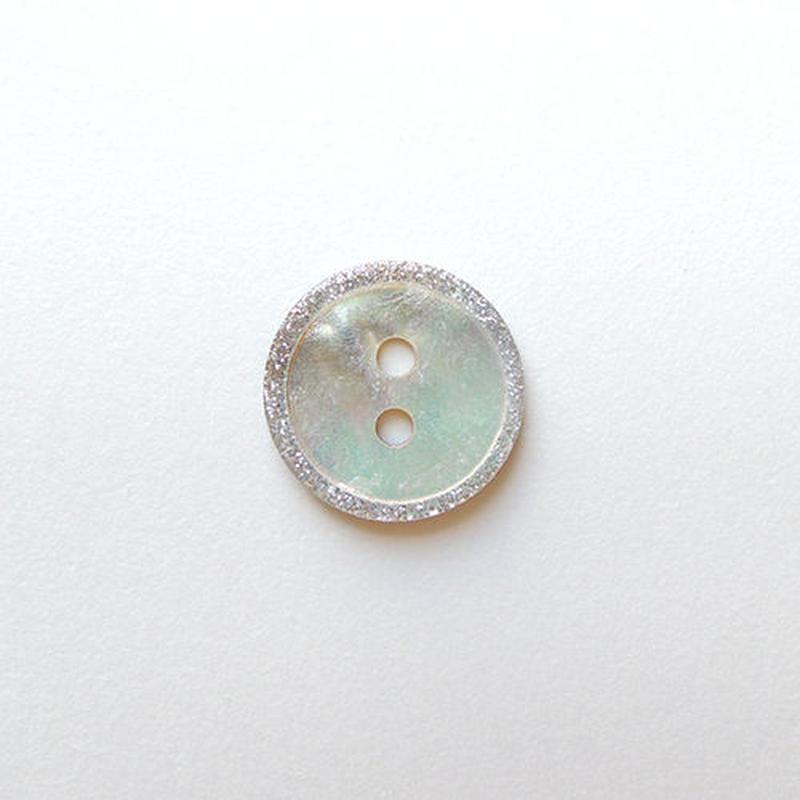 ラメ縁取り シェルボタン (JB109463 14mm)