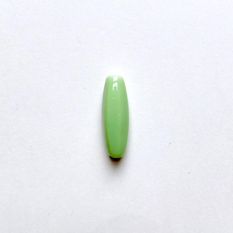 ナツメ形ビーズ(FJ409 マットグリーン)