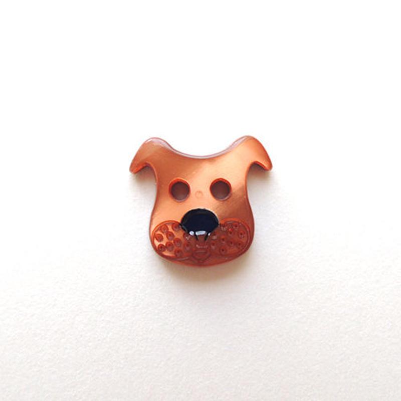 イヌのボタン(JB447036) ブラウン