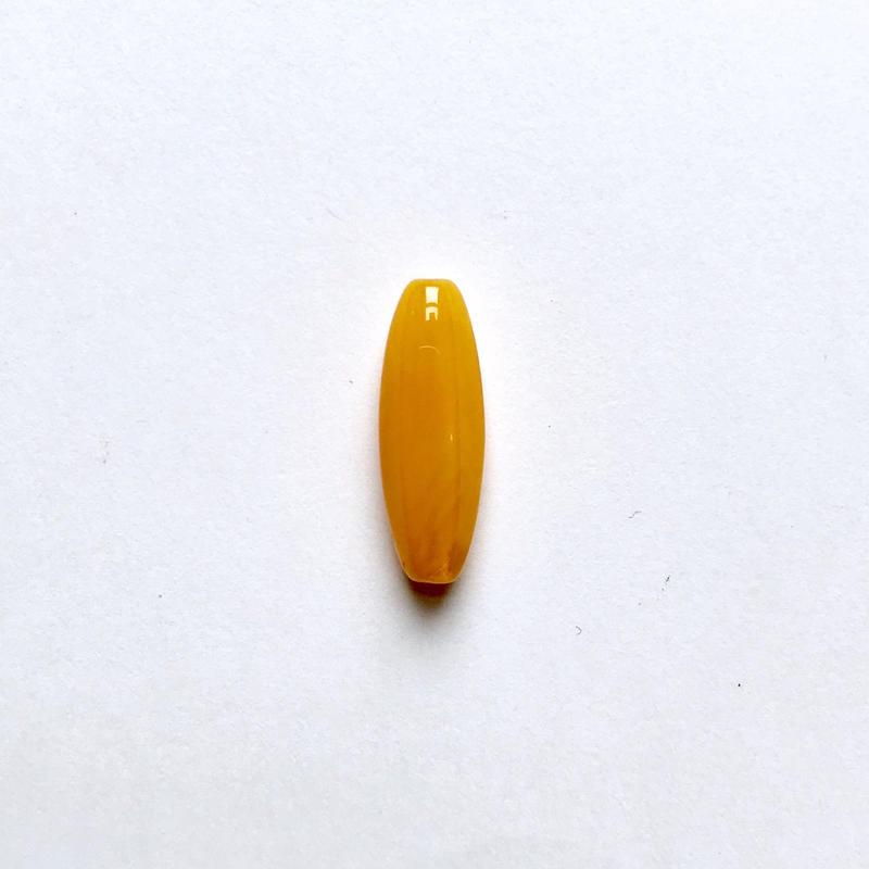 ナツメ形ビーズ(FJ409 イエロー)