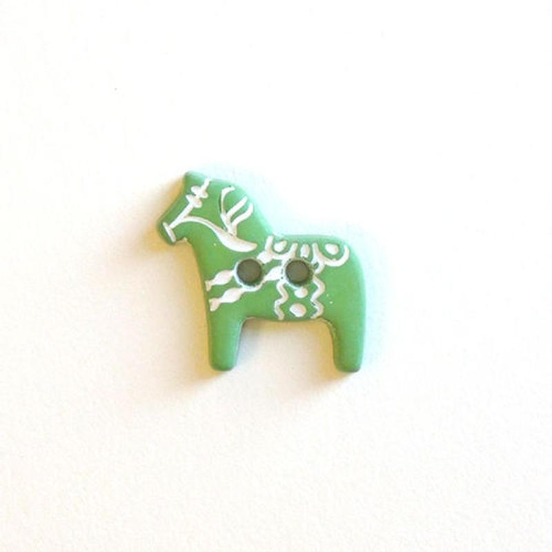 木馬ボタン (JB734338 14mm グリーン)