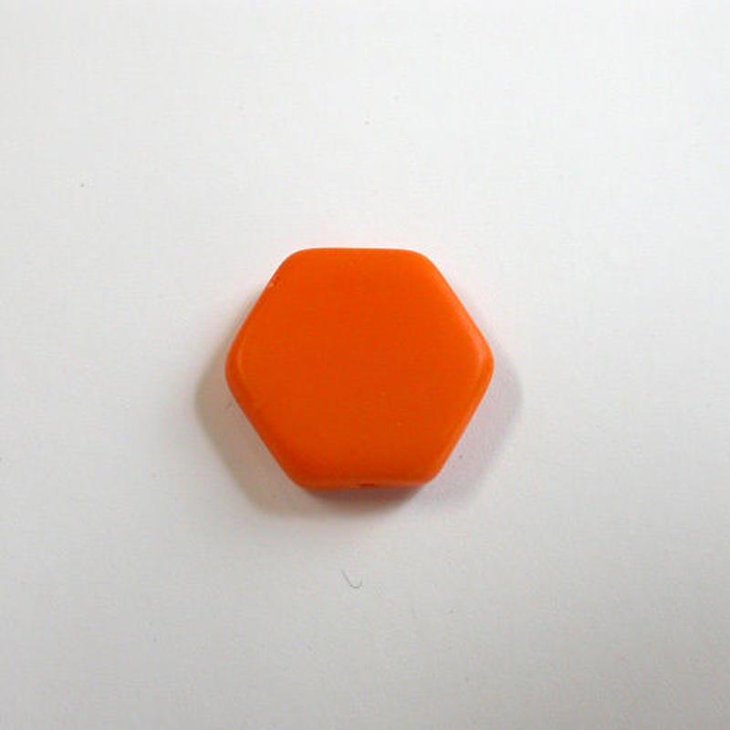 ヘキサゴンビーズ(FJ340 オレンジ)
