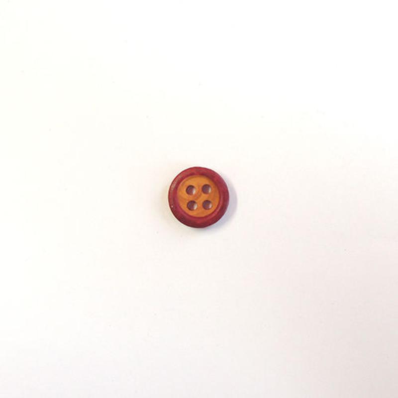 4つ穴ウッドボタン (JB609033 10mm レッド)