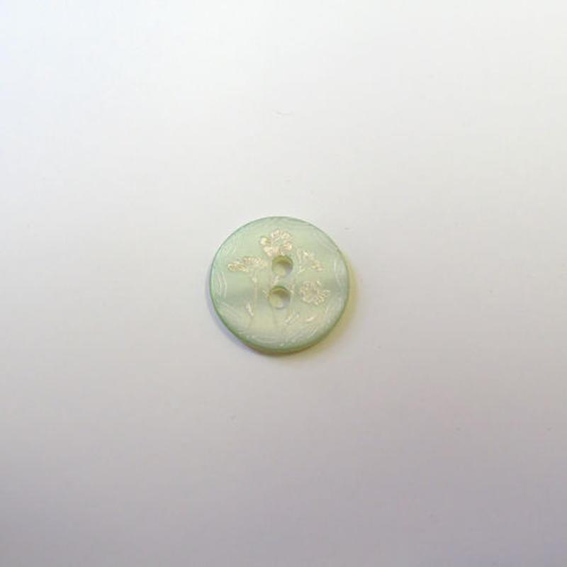 フラワープリントボタンM(JB109209 グリーン)