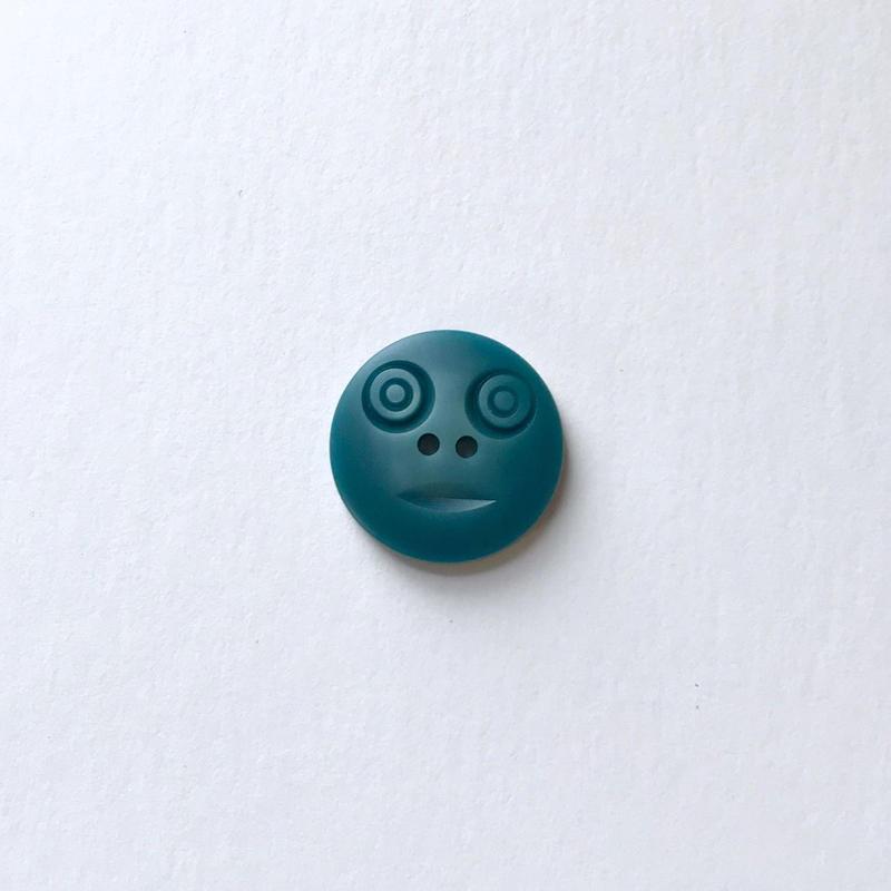 スマイルボタン ( Mサイズ ブルー)