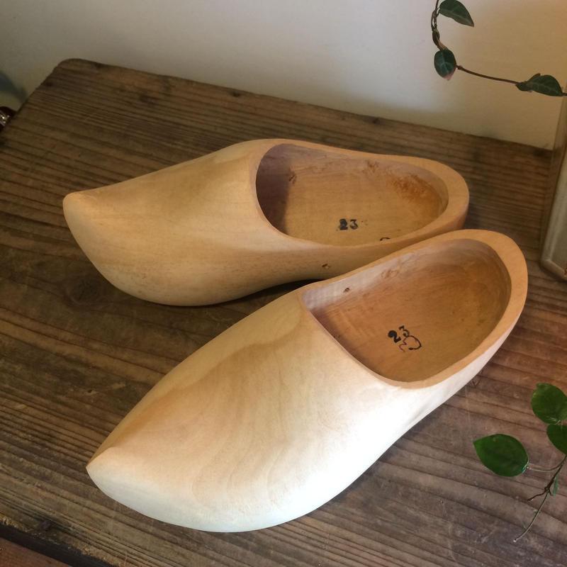 【雑貨14】  木靴 無塗装 オランダ