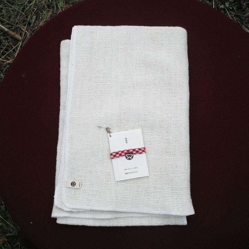 ふんわり やさしい 手つむぎの布 70×140cm
