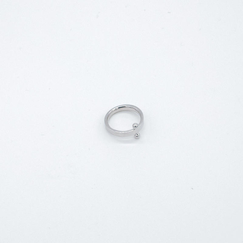 ring [double ball] (silver) [受注制作]