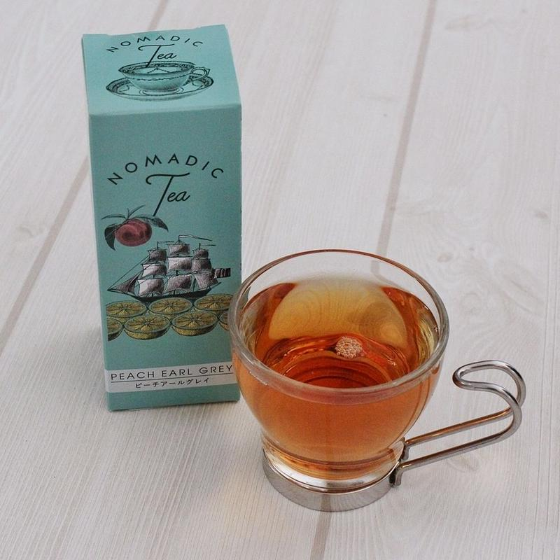 <世界を旅するおいしいお茶>ノマディックティー【ピーチアールグレイ】<ティーバッグタイプ>