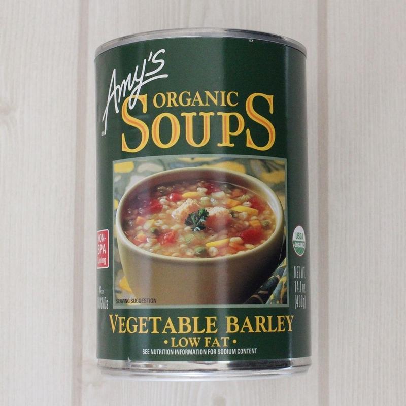 <肉・魚介類・添加物不使用>Amy's kitchenオーガニックスープ【ベジタブルバーリーズ】