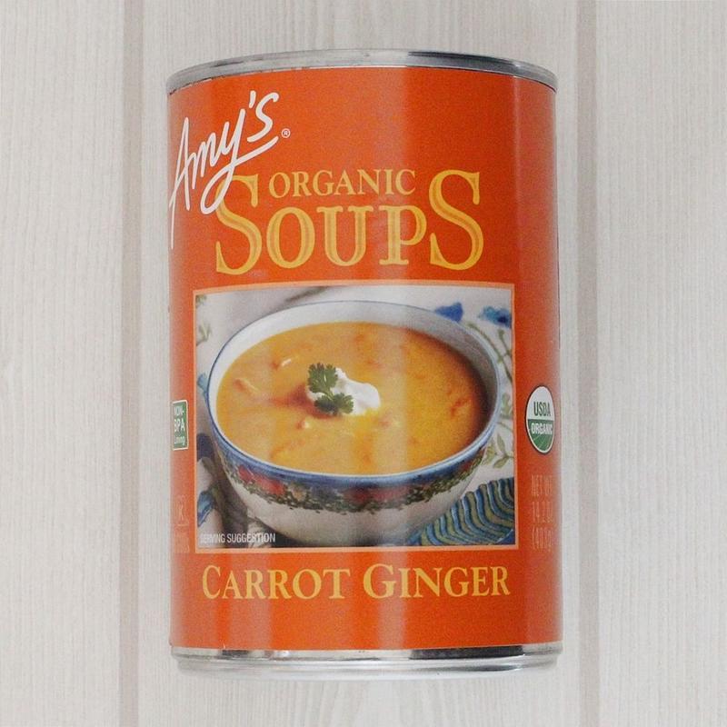 <肉・魚介類・添加物不使用>Amy's kitchenオーガニックスープ【キャロットジンジャー】