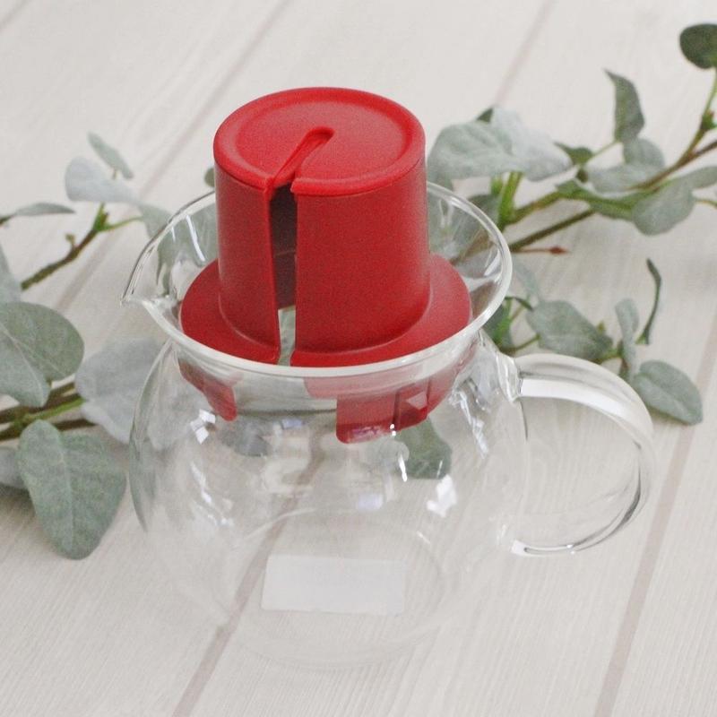 HARIO ティーバッグ用ポット「TEA HAT」(赤)