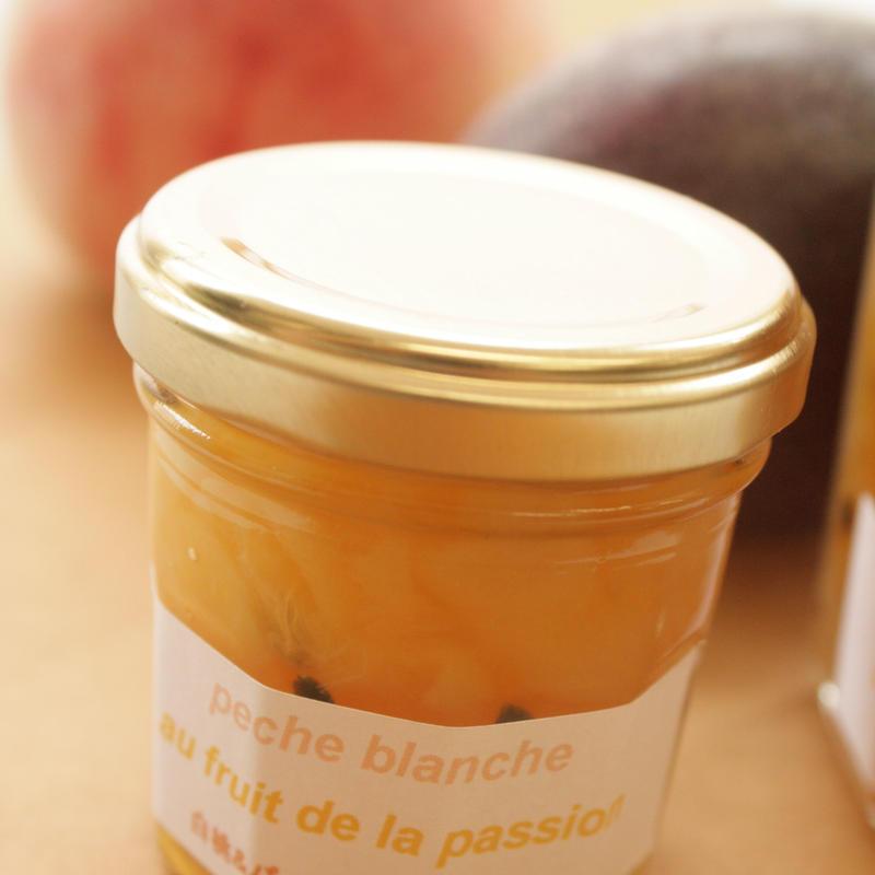 白桃とパッションフルーツのジャム(125g)