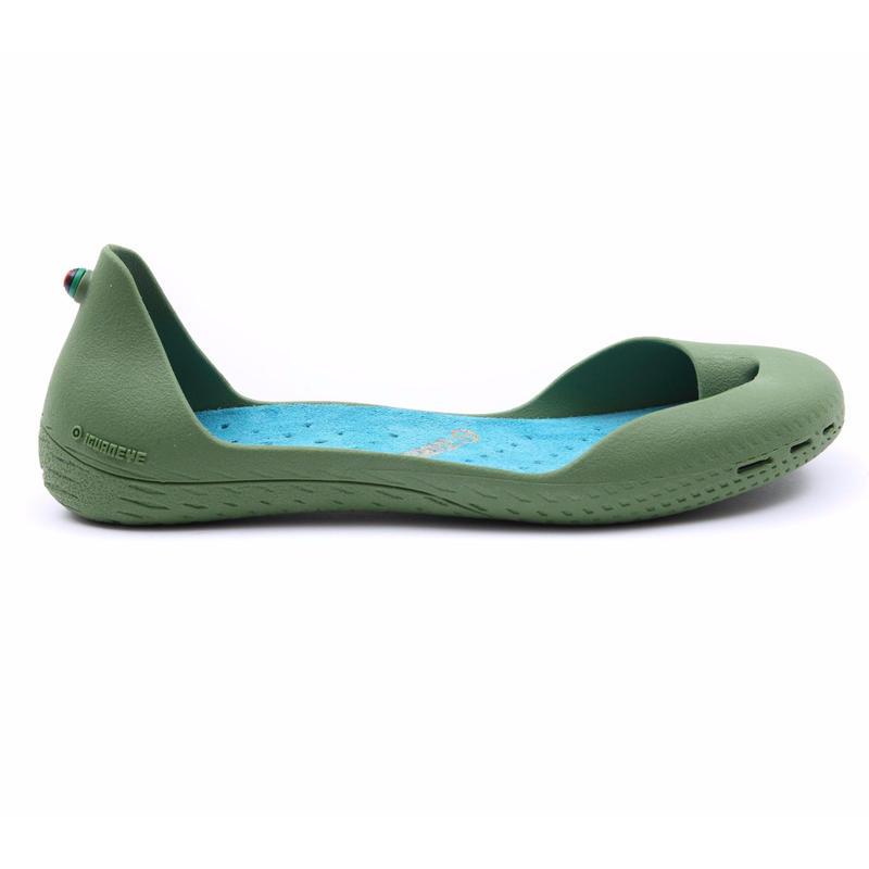 Cactus Green ボディ (Turquoise Blue インソール)
