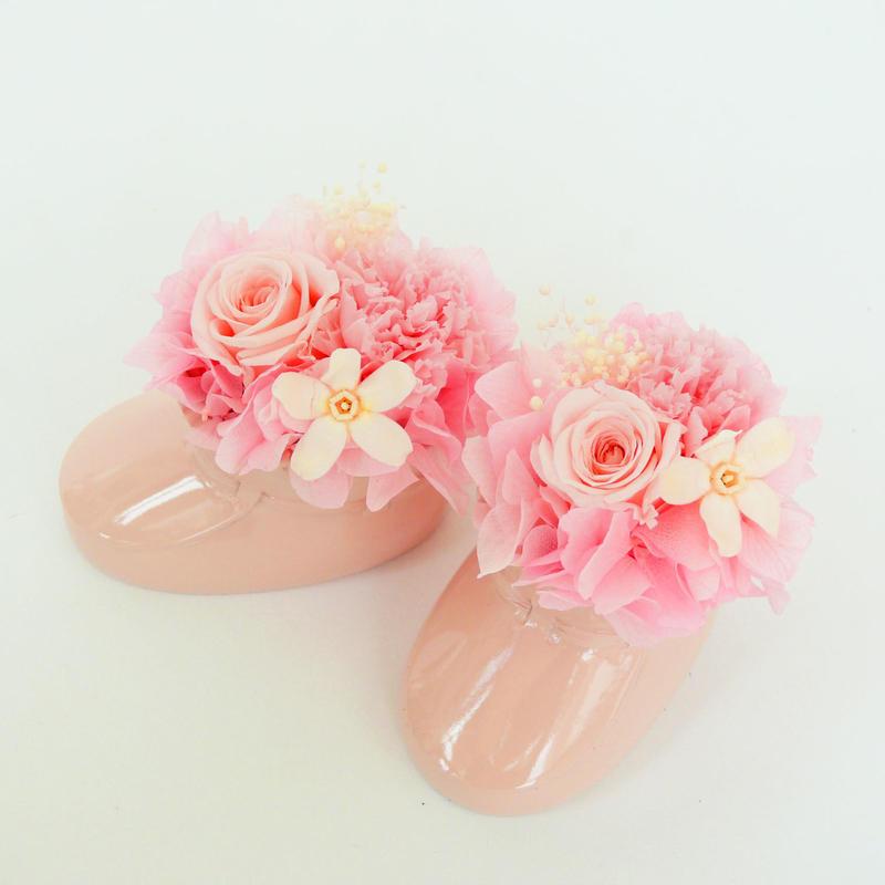 プリザーブドローズのベビーシューズ【pink】